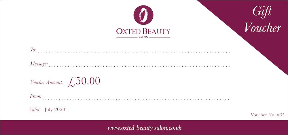 Gift Vouchers - Oxted Beauty Salon | Surrey